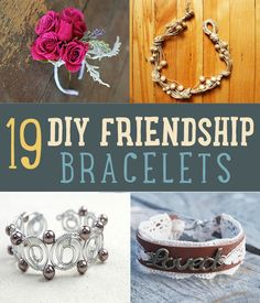 DIY friendship bracelets are so easy to make and you can be as creative as you want! Check out 19 favorite DIY friendship bracelet designs & cool projects. Diy Friendship Bracelets Designs, Friendship Bracelet Patterns, Bracelet Designs, Do It Yourself Jewelry, Do It Yourself Fashion, Jewelry Crafts, Handmade Jewelry, Bracelets Crafts, Jewelry Ideas