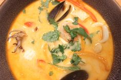If you want to blow the pants off your tastebuds without having to try that hard, this recipe is for you. You don't have to sweat your tits off going wild and crazy in the kitchen to produce a hear… Seafood Soup, Spicy Thai, Allrecipes, Curry, Ethnic Recipes, Casual, Kitchen, Curries, Cooking