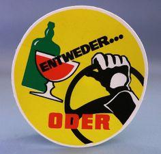 """Orig. DDR-Aufkleber """"Entweder oder"""" , 80er Jahre von Zeitzone-DDR auf DaWanda.com"""