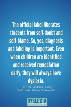 Dyslexia - An Ounce of Prevention by Dr. Kelli Sandman-Hurley