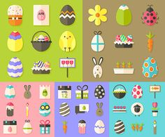Easter flat icons. All images on the site vectorpicfree.com free for download and ready for print. We have over 10,000+ pictures.