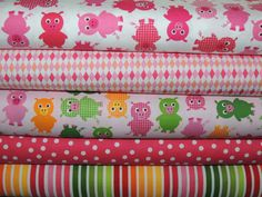 PINK PIGGIES Fat Quarter Bundle via Etsy.