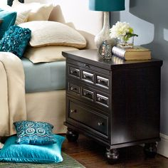Ashworth Bedside Chest - Rubbed Black | Pier 1 Imports