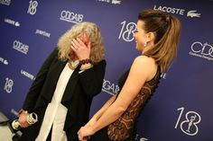 Kate Beckinsale Photos - Costume designer Jenny Beavan (L), winner of the Excellence in Fantasy Film award for 'Mad Max: Fury Road', and actress Kate Beckinsale attend the 18th Costume Designers Guild Awards with Presenting Sponsor LACOSTE at The Beverly Hilton Hotel on February 23, 2016 in Beverly Hills, California. - 18th Costume Designers Guild Awards - Backstage and Green Room