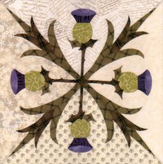 Love this thistle quilt block!