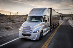 autonomous freightliner inspiration truck introduced to the US roads
