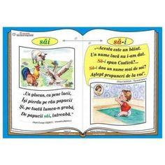"Plansa Ortograma ""n-ati"" / cuvintele ""nu"" si ""ati"" Romanian Language, Class Decoration, Coloring Pages, Nostalgia, Classroom, Baseball Cards, Math, Learning, School"