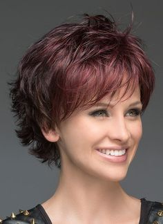 Deluxe Layered Deeply Wavy Lace Front Wigs Synthetic Hair 10 Inches - New Site Bobs For Thin Hair, Short Hairstyles For Thick Hair, Short Hair With Layers, Layered Hair, Short Hair Cuts, Curly Hair Styles, Short Shag Hairstyles, Layered Bobs, Hairstyles 2016