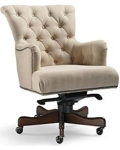Don't miss out on these great prices on averly desk chair - frontgate. Best Office Chair, Swivel Office Chair, Home Office Chairs, Home Office Furniture, Oaks Furniture, Tufted Desk Chair, Ikea Chair, Desk Chair Comfy, Wingback Chairs