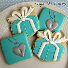 Tiffany Inspired Cookies~    Sugar Dot Cookies, Boxes
