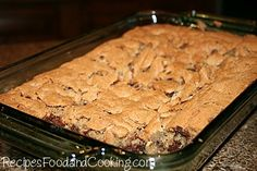 Deep Dish Chocolate Chip Cookies from recipesfoodandcooking.com