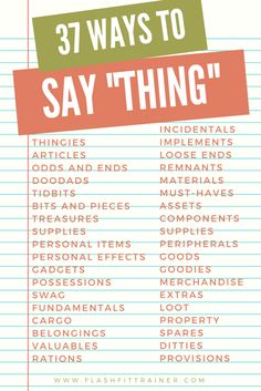 other words for thing