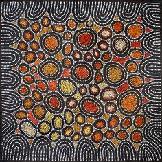Product shot of Women's Ceremony - Joyleen Reid Napangardi Aboriginal Dot Painting, Aboriginal Artists, Aboriginal Patterns, Indigenous Australian Art, Indigenous Art, Arte Tribal, Tribal Art, Kunst Der Aborigines, Motifs Textiles