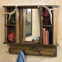 Antler wall shelf! So awesome but so expensive. $300!