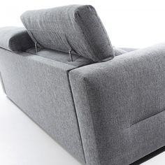 Sofá cama Kant 140 viscoelástico, gris