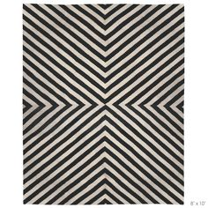 Jonathan Adler Bridget Black/White Rug. (nice, but $$$, could prob recreate w paint and ikea rug.)