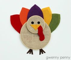 Gwenny Penny: Embroidery Hoop Turkey Tutorial