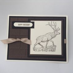 Here is another fast and easy guy card. Visit my site for all the details. lisastamps.com