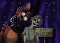 FNAF - Foxy and his ghost by LadyFiszi.deviantart.com on @DeviantArt