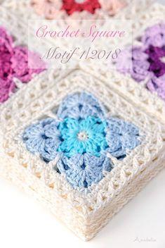 Crochet square motif 1_2018, Anabelia Craft Design #anabeliacraftdesign #crocheting #hakeniship #hakeniscool #hakenisleuk #crochetingisfun #crochettime #happyhooker #welovecrochet