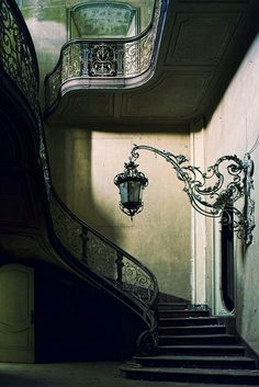 The stair case reflects a few historical periods although it is mainly a victorian style. The metal staircase is shaped on a slight curve, which seems to be a classic design through this period .