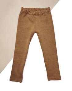 Pantalonasi interlock merino CARAMEL 350 g/ml | Breslo Leggings Fashion, Leggings Style, Pajama Bottoms, Lana, Caramel, Khaki Pants, Sweatpants, Wool, Dresses