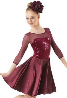 Weissman™   Illusion Mesh Velvet Dress