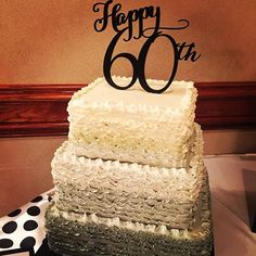 This beautiful 60th anniversary ombré ruffle cake was so dreamy. Congratulations!