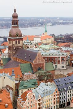 For breathtaking panoramic views over Riga, head over to St.Peter's Church Tower #travelblog #Riga #Latvia #visitLatvia #citybreak #cityscape #visitRiga #travelphotography #wanderlust #exploretheworld #architecture
