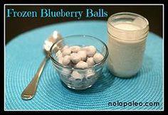 Paleo Frozen Blueberry Balls!