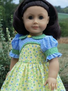 Great patterns here.  This is a must have for me just waiting for the PDF download version to become available.  Ruthie's  School Dress  / Clothes for American Girl Doll Kit, Ruthie or Molly