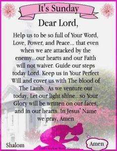 Monday Morning Prayer, Sunday Prayer, Morning Prayer Quotes, Prayer For Today, Blessed Sunday, Sunday Quotes, Blessed Mother, Sunday Morning, Bible Verses For Women