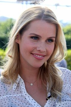 Claire Holt at the Extra set in Universal City last October 7, 2013