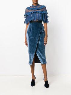 Self-Portrait кружевное платье с рюшами