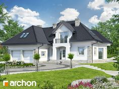 Dom w hibiskusie House Plans Mansion, Cabin House Plans, 4 Bedroom House Plans, Beautiful House Plans, Beautiful Homes, Dream Home Design, Modern House Design, Bungalow Style House, American Houses