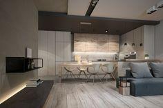 photo de maison design et association de couleur neutre