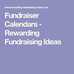 Fundraiser Calendars - Rewarding Fundraising Ideas