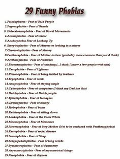 list of phobias Unusual Words, Rare Words, New Words, Cool Words, Types Of Phobias, List Of Phobias, Common Phobias, Funny Phobias, Weird Phobias