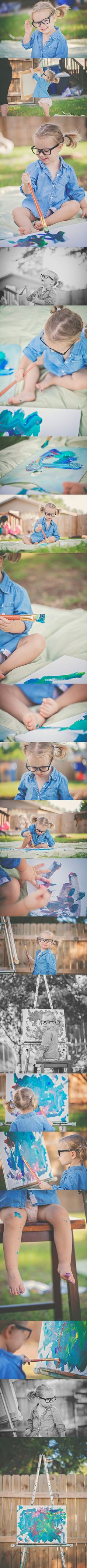 Adorable little artist | Inspiration for 2 Year Session | P&W Photography