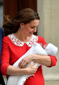 The Duchess of Cambridge gave birth to her new son at 11.01am after going into birth around 6am, to which Prince William joked: 'We didn't keep you waiting too long this time'