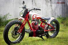 bikerMetric | custom honda yamaha metric bobbers, choppers, cafe racers, custom parts accessories: honda cb125 bobber | dariztdesign