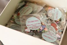 packets of confetti for guests