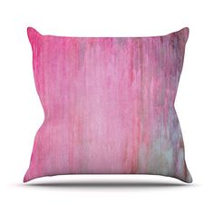 KESS InHouse IL2059AOP03 18 x 18-Inch 'Iris Lehnhardt Colour Wash Pink Blush Paint' Outdoor Throw Cushion - Multi-Colour >>> Check this useful article by going to the link at the image. #GardenFurnitureandAccessories