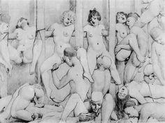 Fameni (artist of erotic scenes) Belle Epoque, Photo Illustration, Graphic Illustration, Post Mortem, Erotic Art, Les Oeuvres, Picture Photo, New Art, Sketches