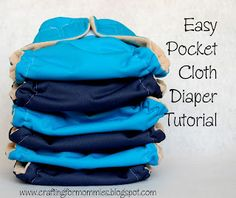 Going Green with the Grizls: Easy Pocket Cloth Diaper Tutorial