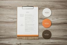 I think clipboard style menus are growing on me. The use of wood and orange make the menu look so clean and not boring. I just wish the menu was smaller IMO.