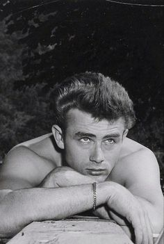 James Dean on the set of East of Eden, 1955