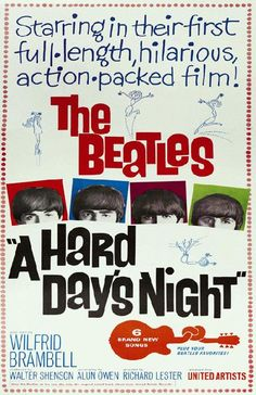 The Beatles movie Hard Day's Night from 1964