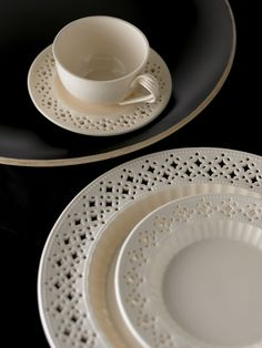 Hartley Greens produce traditional Creamware known as 'Leeds Pottery' which is still made the same as it was two and a half centuries ago. www.leeds-pottery.co.uk #tableware #leedspottery