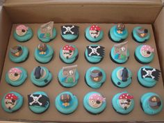 Mossy's masterpiece- Pirate cupcake toppers made to match … | Flickr